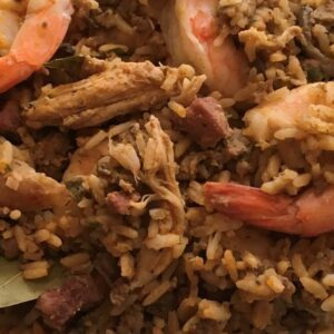 Homemade Jambalaya with Shrimp